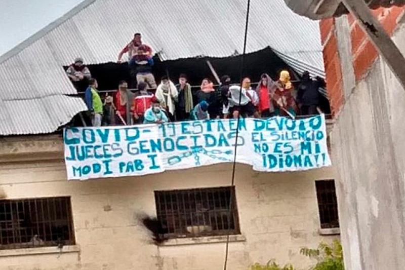 Protesta de los presos argentinos