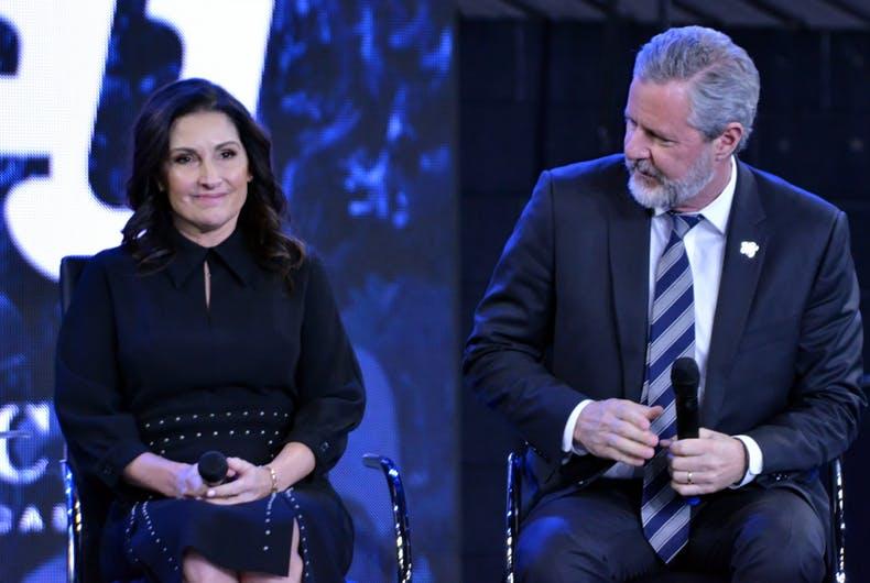 El líder evangélico, y su esposa